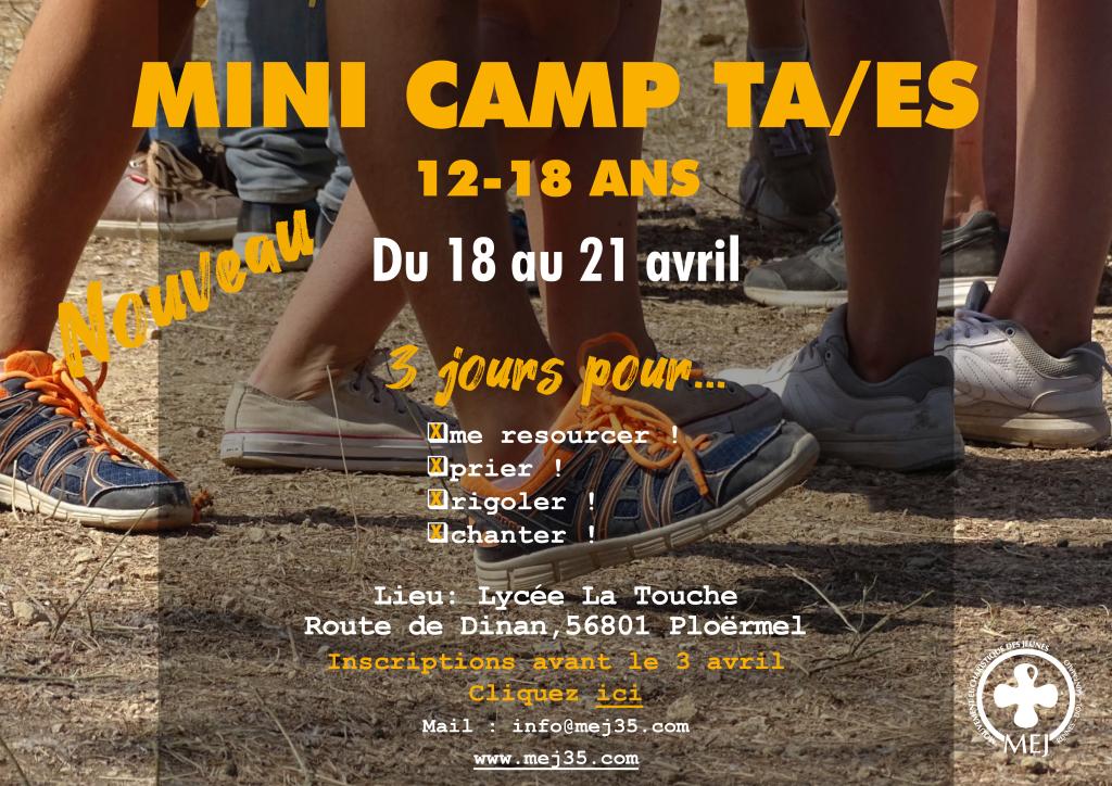 mini camp TA ES 18 au 20 avril 2020